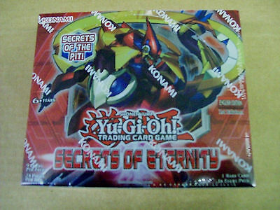 Yu-Gi-Oh Secrets of Eternity sealed unopened box 24 packs of 9 cards Free Ship