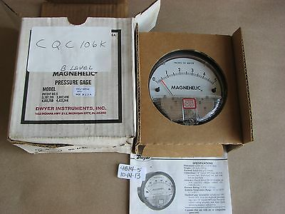 Nib Dwyer Magnehelic Pressure Gauge 2005-lt-sstag 0-5 Inches Of Water 15 Psig