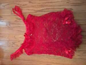 Plus size 3x red lingerie
