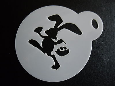 Laser cut 60mm easter bunny design cake, cookie,craft - Bunny Face Design