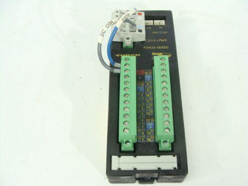 TURCK FDN20-16XSG Bus Stop Devicenet I/O Input Output PLC Automation Module