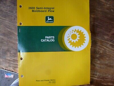 John Deere 2600 Semi-integral Moldboard Plow Parts Catalog Manual Book Pc-1653