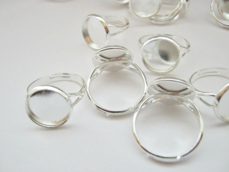 Ring Blanks Settings Bezel Trays 14mm (Fits 12mm) Ring Pads Jewellery Making