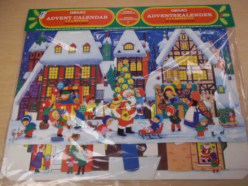 Vintage Advent Calendar - Made in Denmark 1950