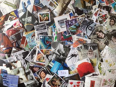 300 Different Great Britain Commemoratives 2000-2009 Stamp Collection