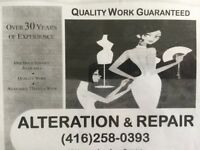 Sewing/Tailoring/Alterations