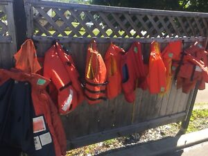 Life jackets all sizes