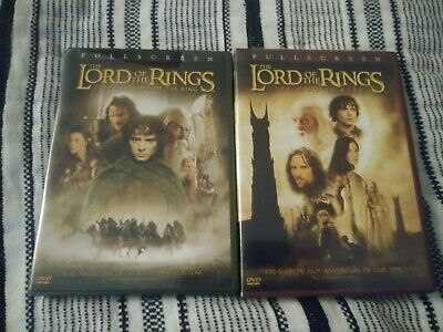 Lord Of the Rings Fellowship Of The Ring & The Two Towers Dvd's