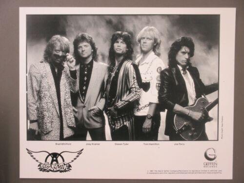 Aerosmith promo photo 8X10 glossy black & white photo Geffen Records 1987!