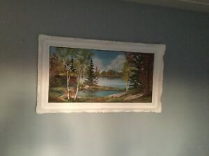 2 Oil Paintings with frames