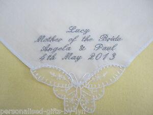 Ladies Personalised Handkerchief - Hankie  Wedding/Bday