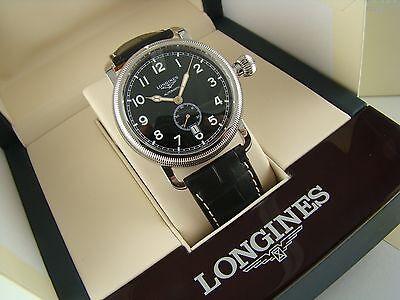 Longines Avigation Black Dial Men's Auto item # L27774530  BNIB