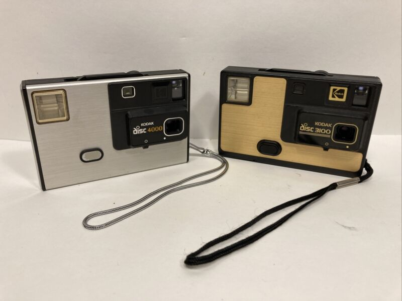 Kodak Disc 4000 3100 Film Cameras One Is Tested & Working Vintage Photography