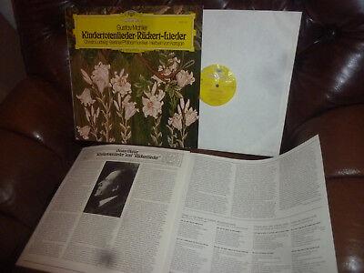 Mahler Kindertotenlieder Rücker, Christa Ludwig, Karajan, DGG 2531147 LP, 1975