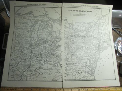 1918 NEW YORK CENTRAL SYSTEM MAP NYC RR HISTORY DEPOTS STATIONS LOCATIONS