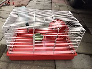 Cage pour hamster rouge