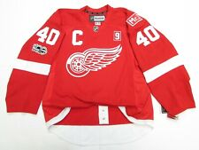 ZETTERBERG DETROIT RED WINGS MR.I HOWE PATCH REEBOK EDGE 2.0 7287 JERSEY SIZE 54