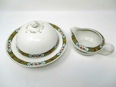 Vintage Alfred Meakin Round Butter Bowl Dish Floral Design England  Alfred Meakin Round Bowls