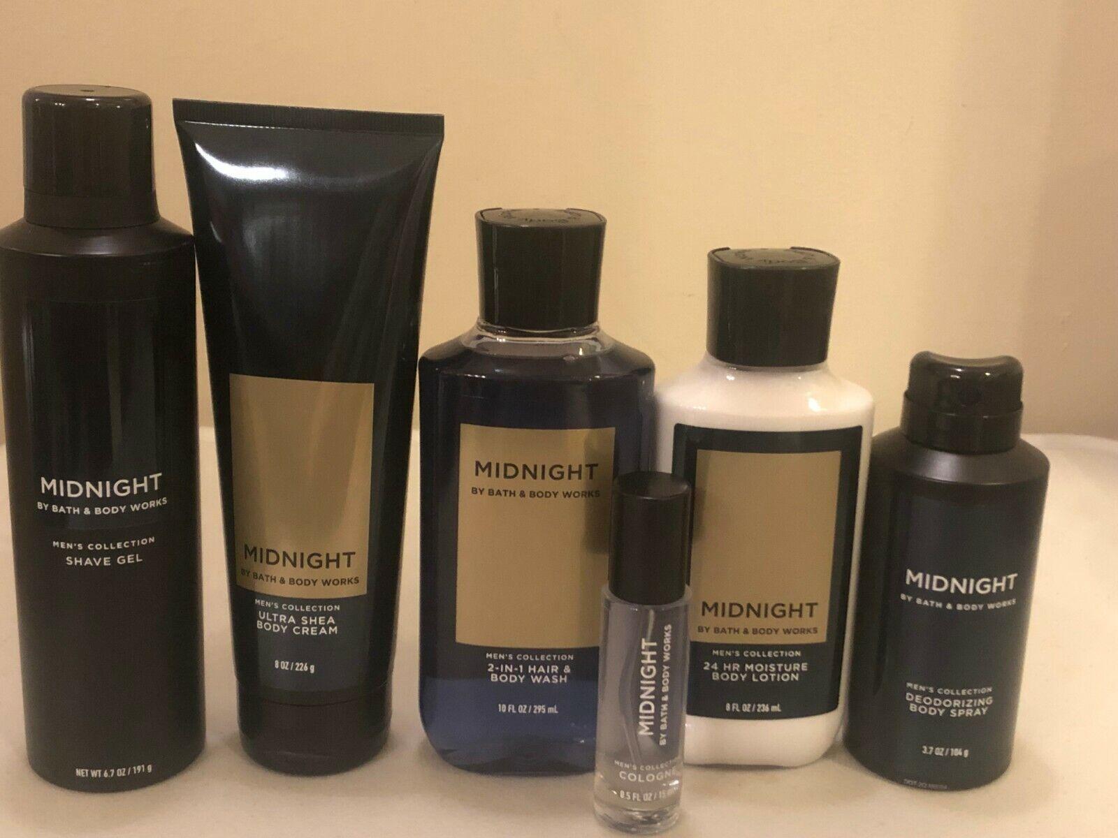 Bath & Body Works Midnight Mens Body Cream Lotion Wash Shave