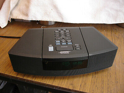 White Bose Wave Radio CD Player Alarm Clock Model AWRC-1G WORKING!