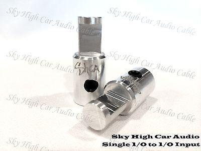Pair of Sky High Car Audio 1/0 Gauge to 1/0 Gauge Amp Input FREE SHIP Inputs