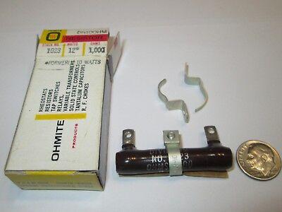1000 Ohm 12 Watt Adj Ww Resistor Ohmite 1023 Nos 1 Pcs.