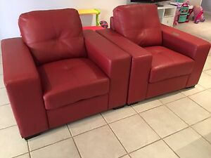 Leather sofa chairs Canning Vale Canning Area Preview