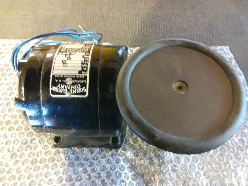 Bodine gear motor 115 vac 1/8 hp 20:1 ratio