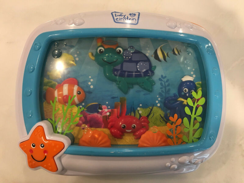 Baby Einstein Ocean Aquarium Dreams Soother Crib Toy w/Lights,Music & MOTION
