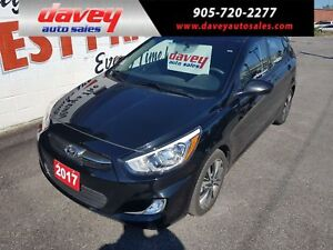 2017 Hyundai Accent GLS HEATED SEATS, POWER SUNROOF, SATELLIT...