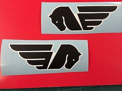2 Stickers Sticker Buell Tank Black & White Logo