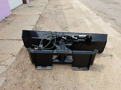 New Heavy 7 Foot Six Way Dozer Blade For Skidsteer Also Snow Plow Fits Bobcat