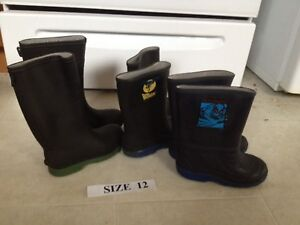 Kids Size 10, 11, and 12 Size Rainboots