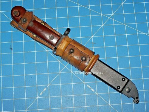 Knife Bayonet Military Wire Cutter Scabbard Sawtooth Blade Romania Hungarian