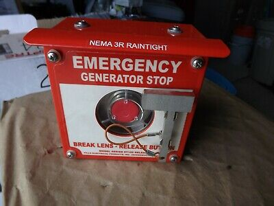 Pilla Electrical Generator Emergency Stop Button W1 Ea No Nc Contact New