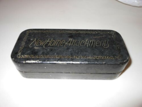 Vtg 1901 New Home Attachments with Metal Case for Sewing Machines