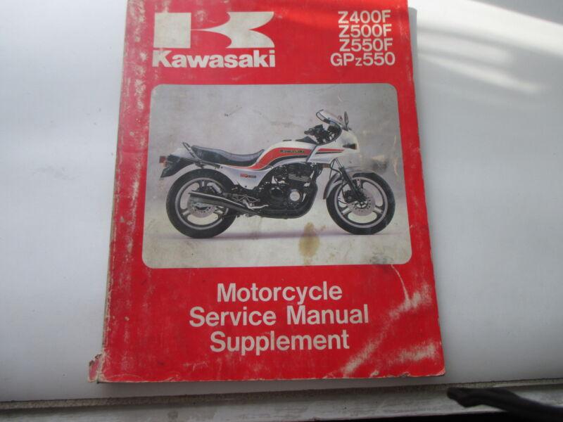 1983 Z500f  Z550f  Gpz550 Service Manual
