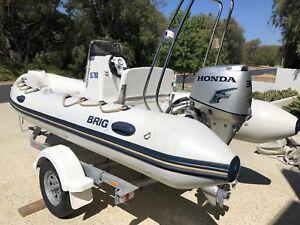 BRIG Falcon F450L 4.50m rigid inflatable RIB boat Honda 30hp 4 stroke