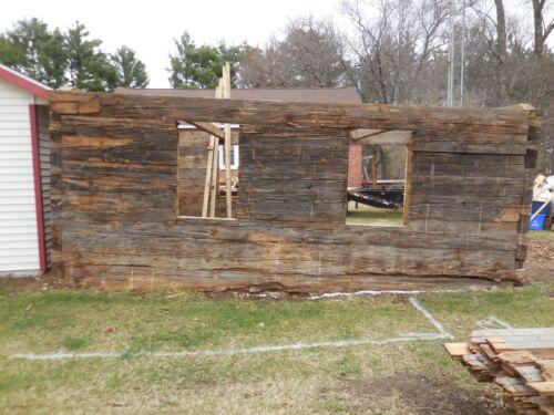 Antique Original Log Cabin Home Kit / Package Hewn Pine Logs 16