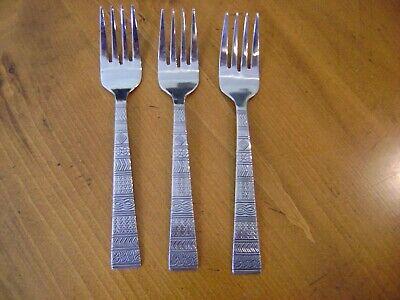 Cambridge Cordoba Pattern Stainless Steel Flatware 3 Salad Forks EUC Free Ship Cambridge Stainless Steel Fork