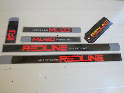 DATED REDLINE FRAME DECALS  1980s MICRO-LINE bmx Pro VINTAGE NOS
