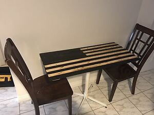 Hand made American flag table