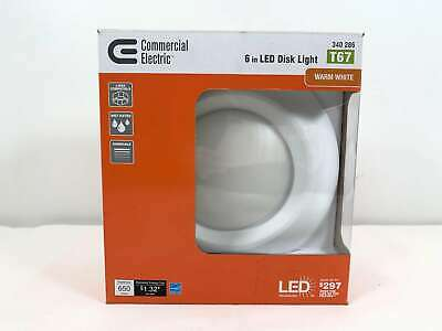 Commercial Electric 6 in. Soft White Recessed LED Can Disk L
