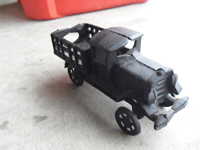 Vintage 1960s Cast Iron Black Old Fashion Pickup Truck Look