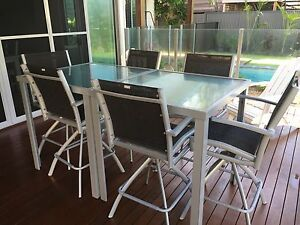 Outdoor Bar Table Setting swivel chairs -new sells for over $1700 Woorim Caboolture Area Preview