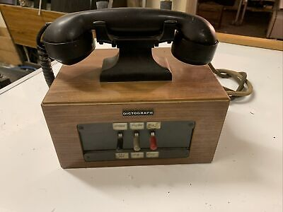 VINTAGE DICTOGRAPH TELEPHONE BAKELITE EXCHANGE OFFICE DESK PEN PHONE