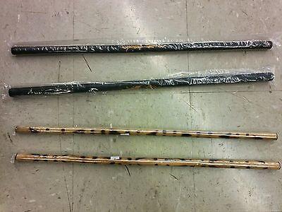 "2 Tiger Escrimas + 2 Foam Dragon Escrima Filipino Arnis Kali Sticks 20"" set"
