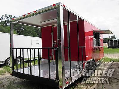 New 2021 8.5x20 8.5 X 20 V-nosed Enclosed Concession Food Vending Bbq Trailer