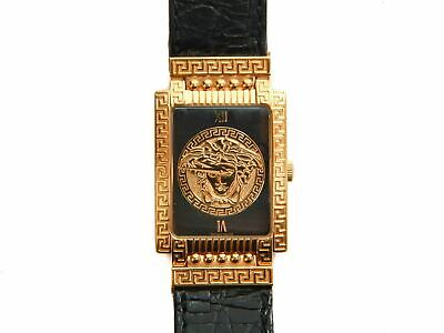 Authentic vintage Mens Gianni Versace medusa Gold plated quartz watch