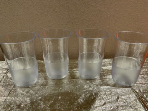 New Beautiful Tupperware 14oz Tumblers Premium Acrylic Stackable Set of 4 Clear